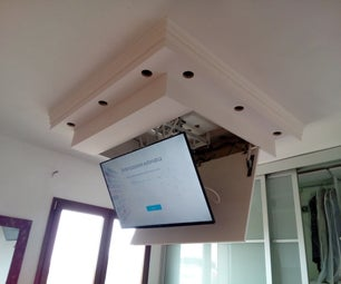 "TV LCD 48"" Motorized Lift Down Ceiling System"