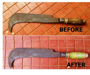 Restore Cracked Machete Handle With Rubber Bands