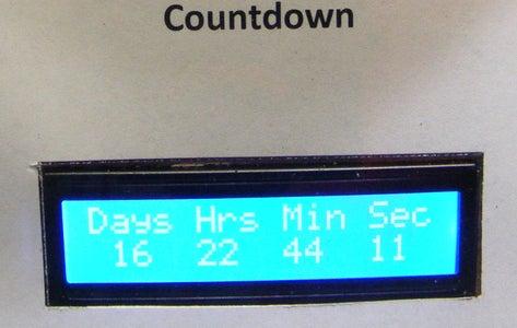 Presidential Inauguration Countdown Clock (Wifi)