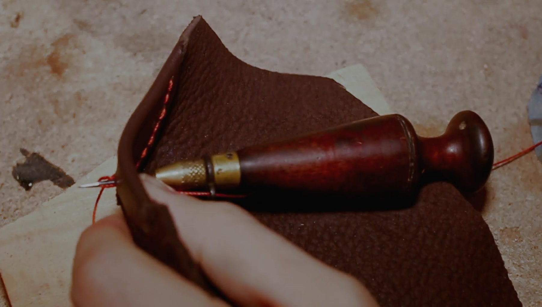 Sewing the Leather Edge Protection