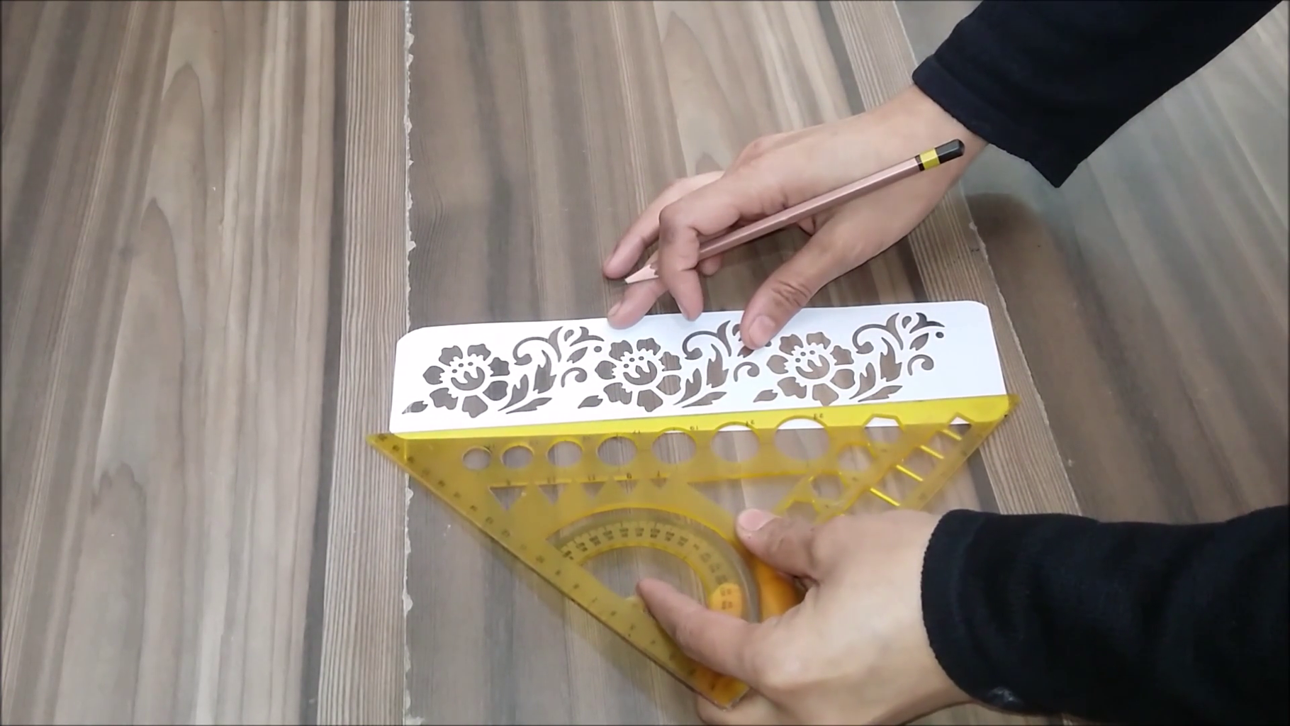 Use of Stencil Sheet