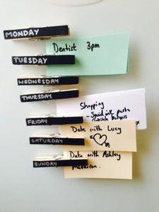 Days of the Week Organising Pegs