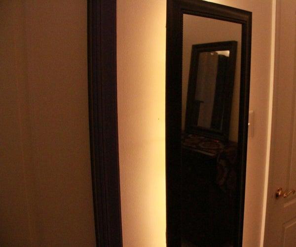 Backlit Mirror to Brighten Your Apartment