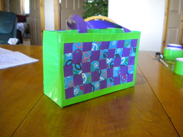 Woven Duct Tape Tote