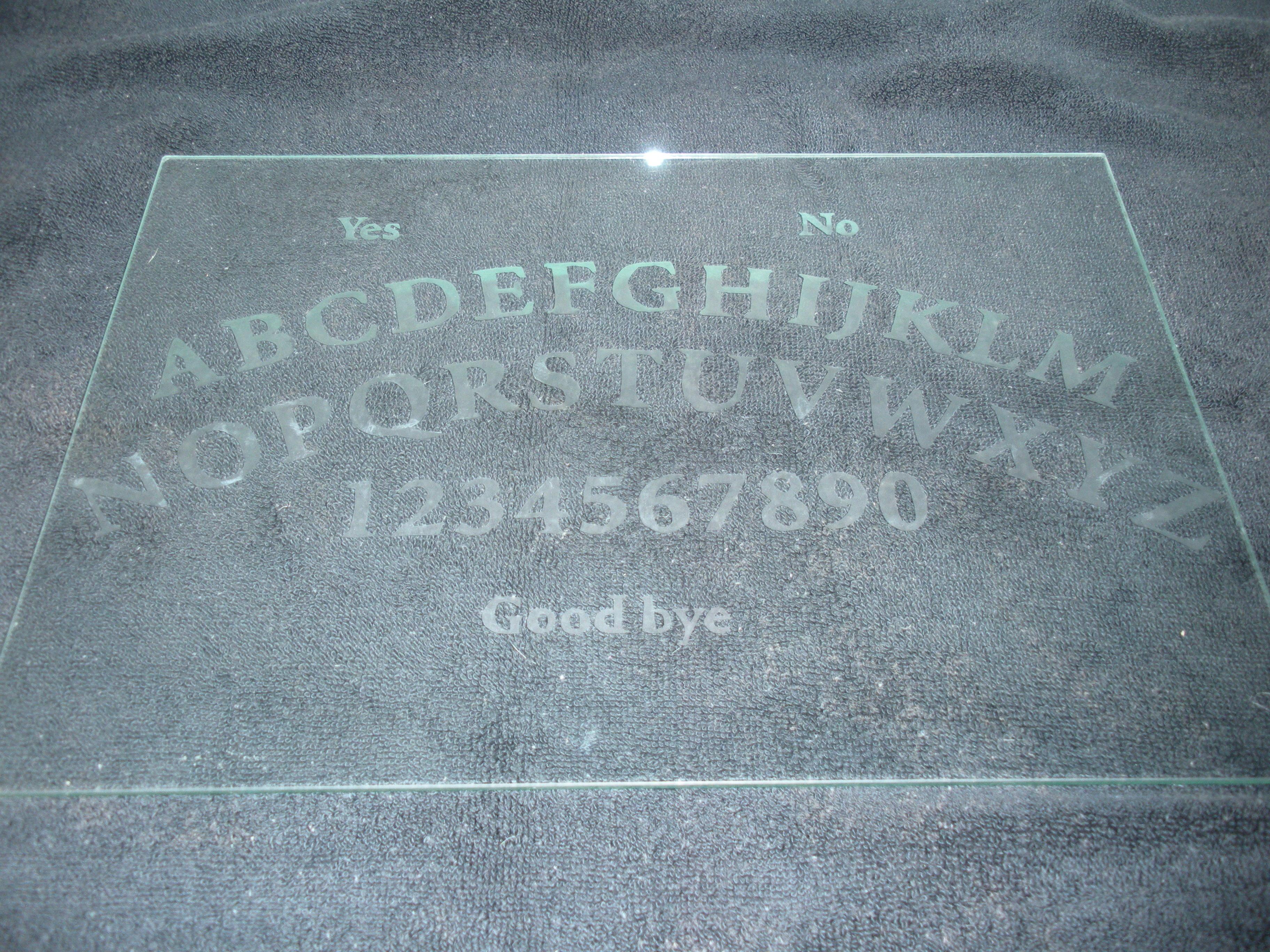 Glass Ouija Board