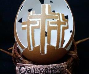Calvary Egg Carving