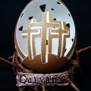 Calvary Egg Carving