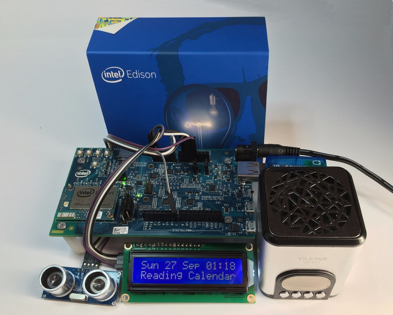 Intel Edison, Proximity Activated, Speaking Calendar