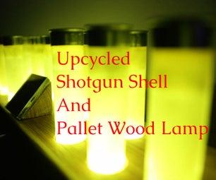 Upcycled Shotgun Shell and Pallet Wood Lamp
