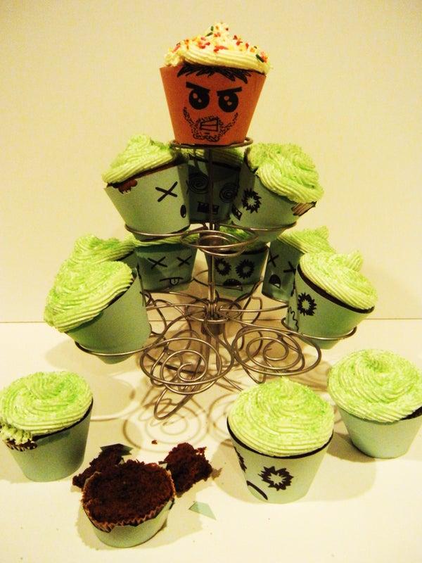 Adorable Zombie Cupcakes!