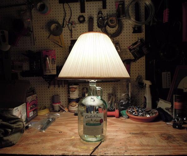 Upcycled Wine Jug Lamp