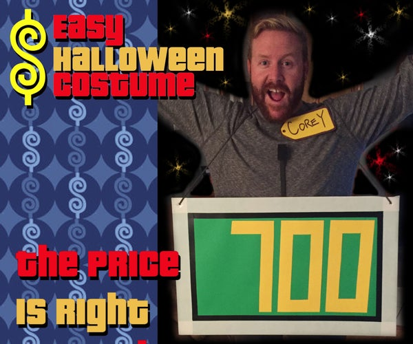 The Price Is Right Halloween Costume - Easy, Fast & Cheap