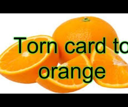 Torn Card to Orange Magic Tricks Revealed