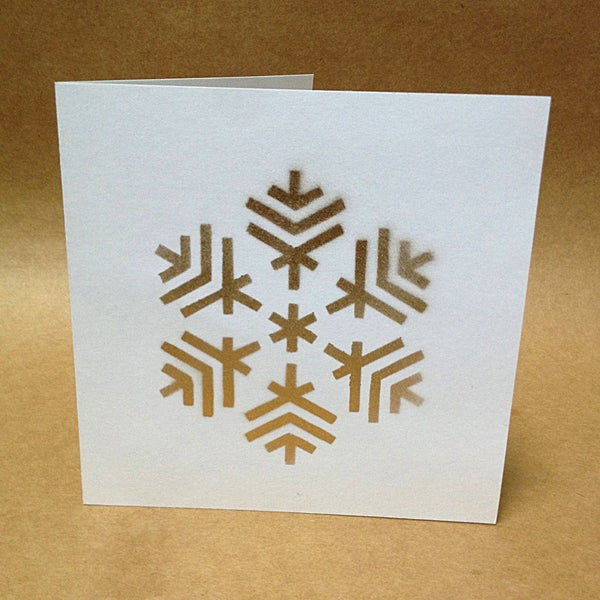 Easy Stenciled Christmas Cards