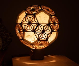 Truncated Icosahedron Kumiko Lamp