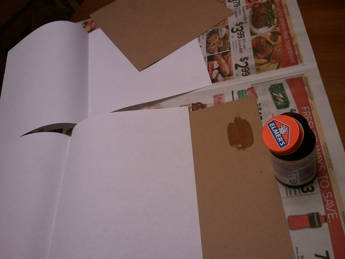 Glue the Covers to the Leaf Pages