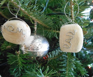 Customizable Ornaments From Notebook and Wood