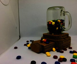 DIY Cardboard Candy Dispenser
