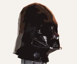 3D Printing Papercraft Darth Vader Helmet