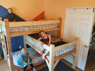 Children S Triple Bunk Bed 20 Steps With Pictures Instructables