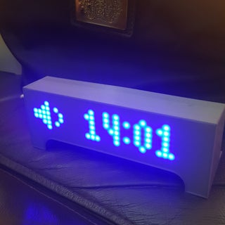 IoT Smart Clock Dot Matrix Use Wemos ESP8266 - ESP Matrix