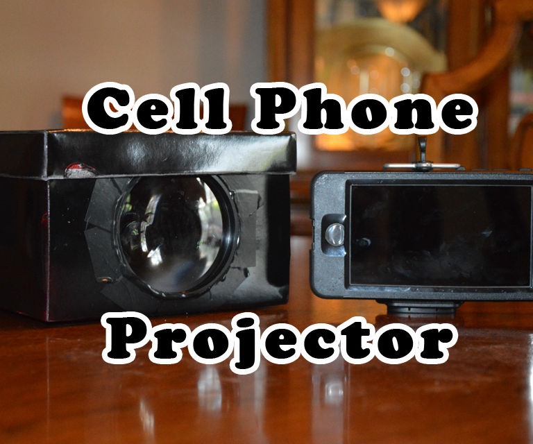 Shoe Box Cell Phone Projector