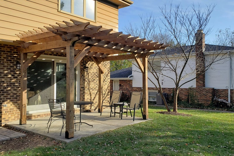 How To Build A Pergola On A Concrete Patio In Two Days 18 Steps With Pictures Instructables