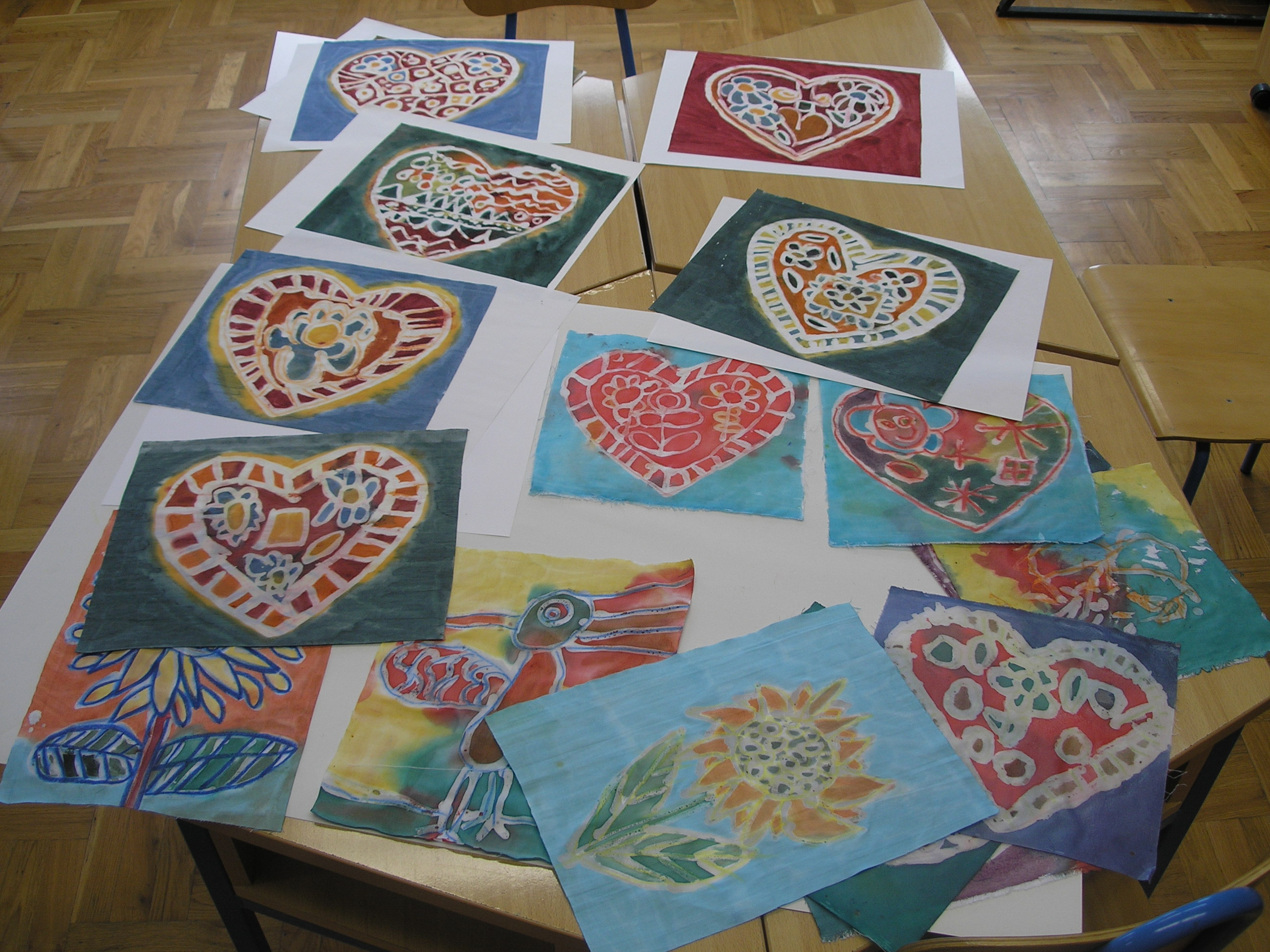 Batik on canvas tutorial for beginners and children