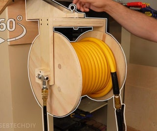 Air Hose Reel From Plywood / 360° Swivel