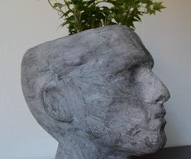 Faux Concrete Head Planter