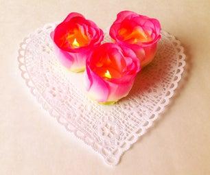 Floral Tealights DIY