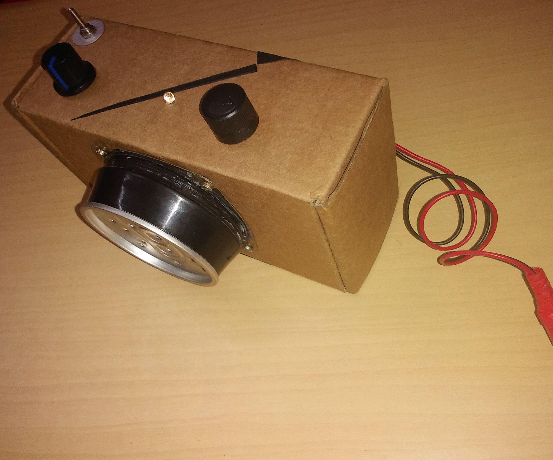 DIY LM386 Powered MONO BOX