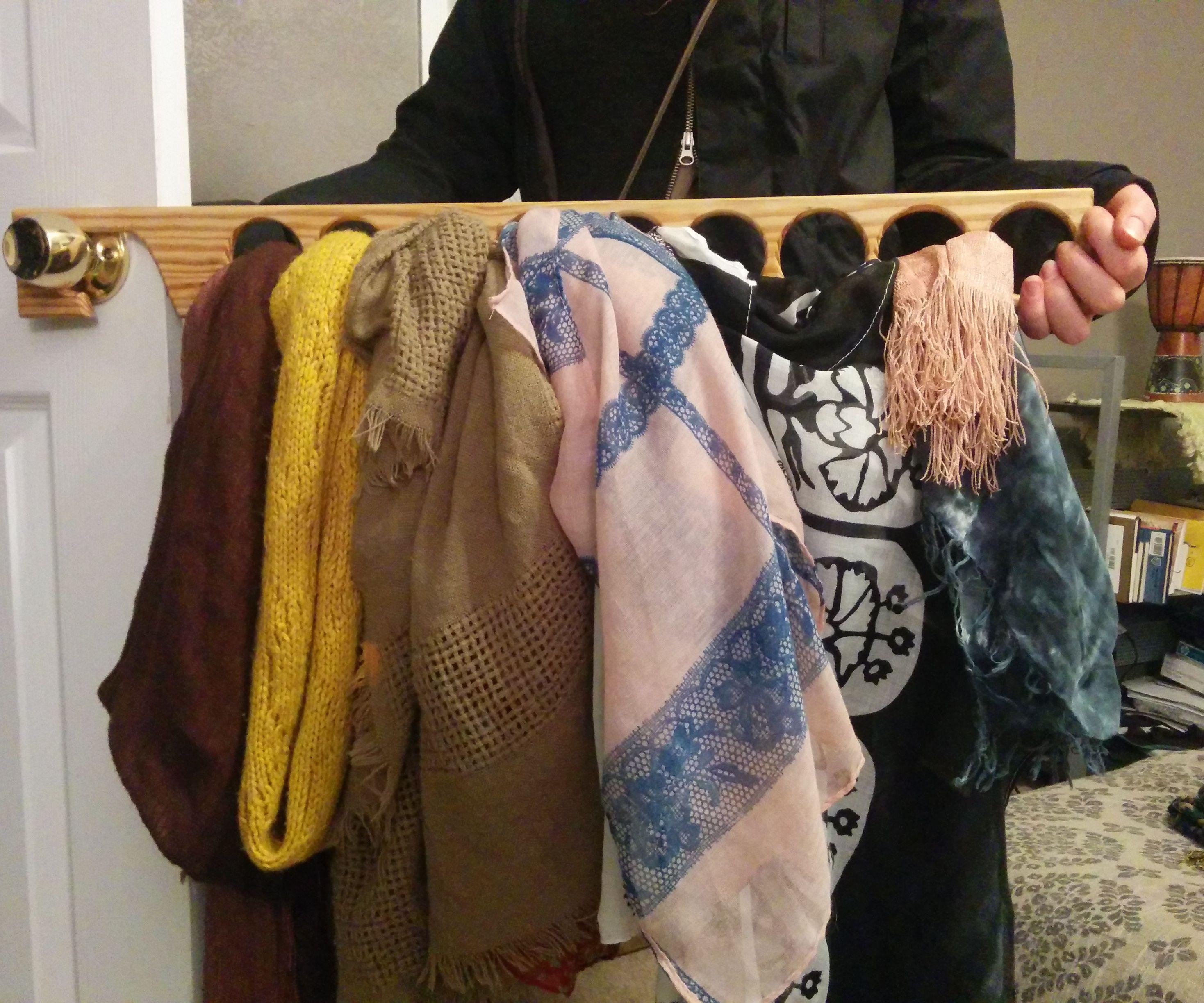 Vertical Scarf and Necktie Hanger