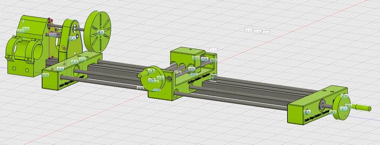 3D Printed Lathe