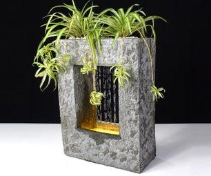 Concrete RainFall Fountain Planter