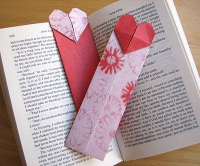 How to Make an Origami Heart Bookmark!
