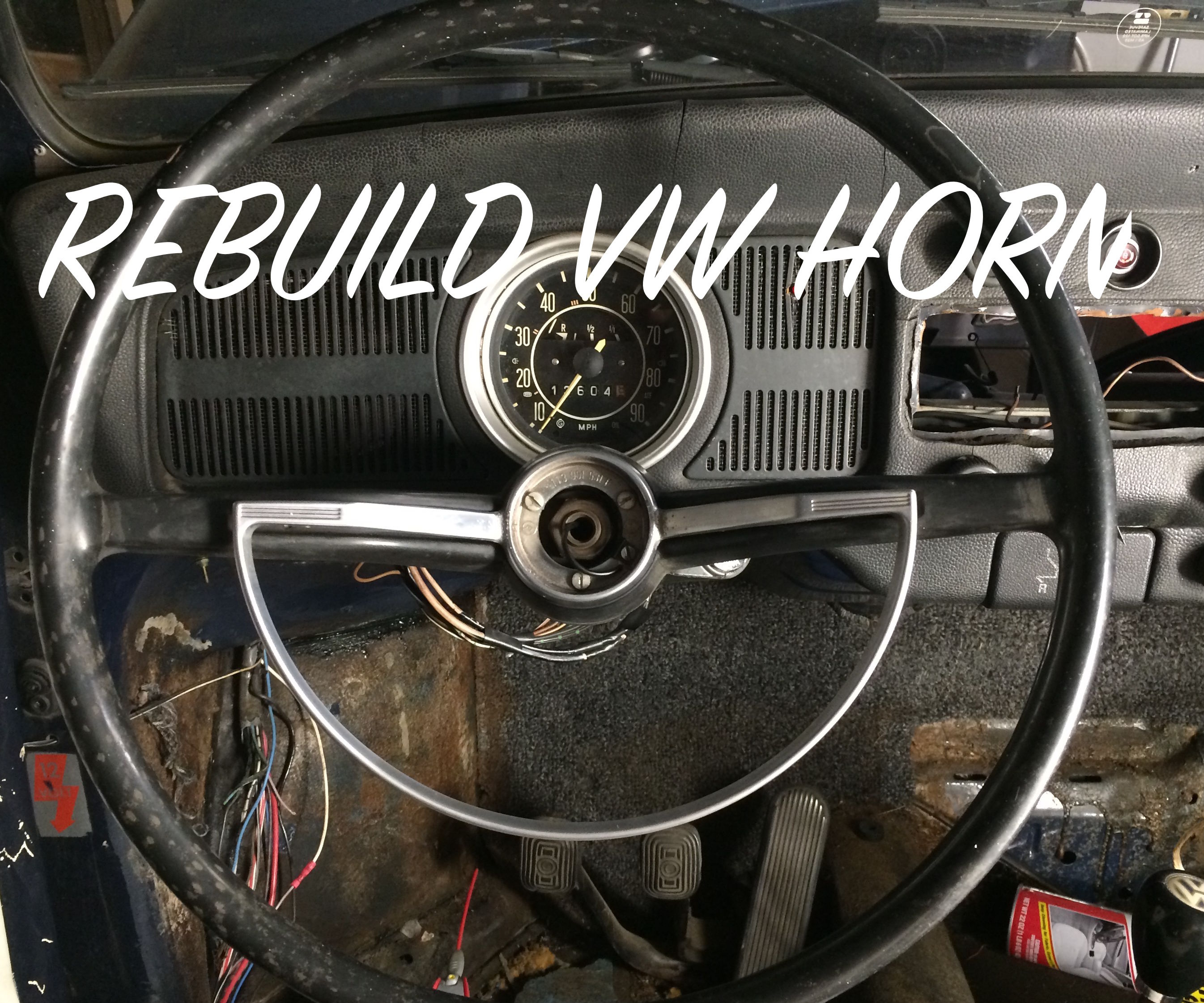 Rebuild Classic VW Horn (With Testing)