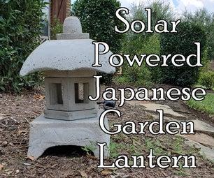 Solar Powered Japanese Garden Lantern - Using Dollar Store Items As Molds
