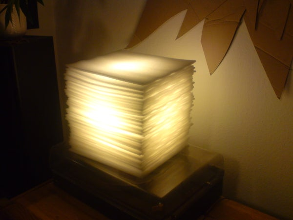 How to Build an Ambient Lamp Out of Bulk Packaging Foam