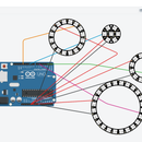 Multiple Independent NeoPixel Rings