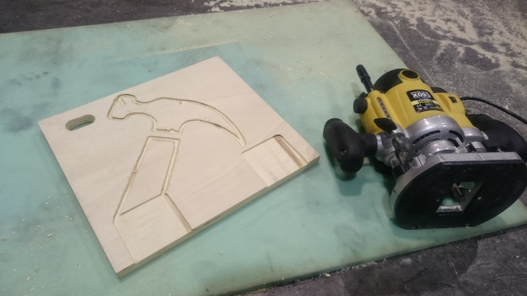 The Tool Stencils Are Also Milled Out 3 Mm and Painted