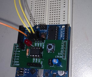 Using the 8Pin ATTINY Programming Shield With an External Clock