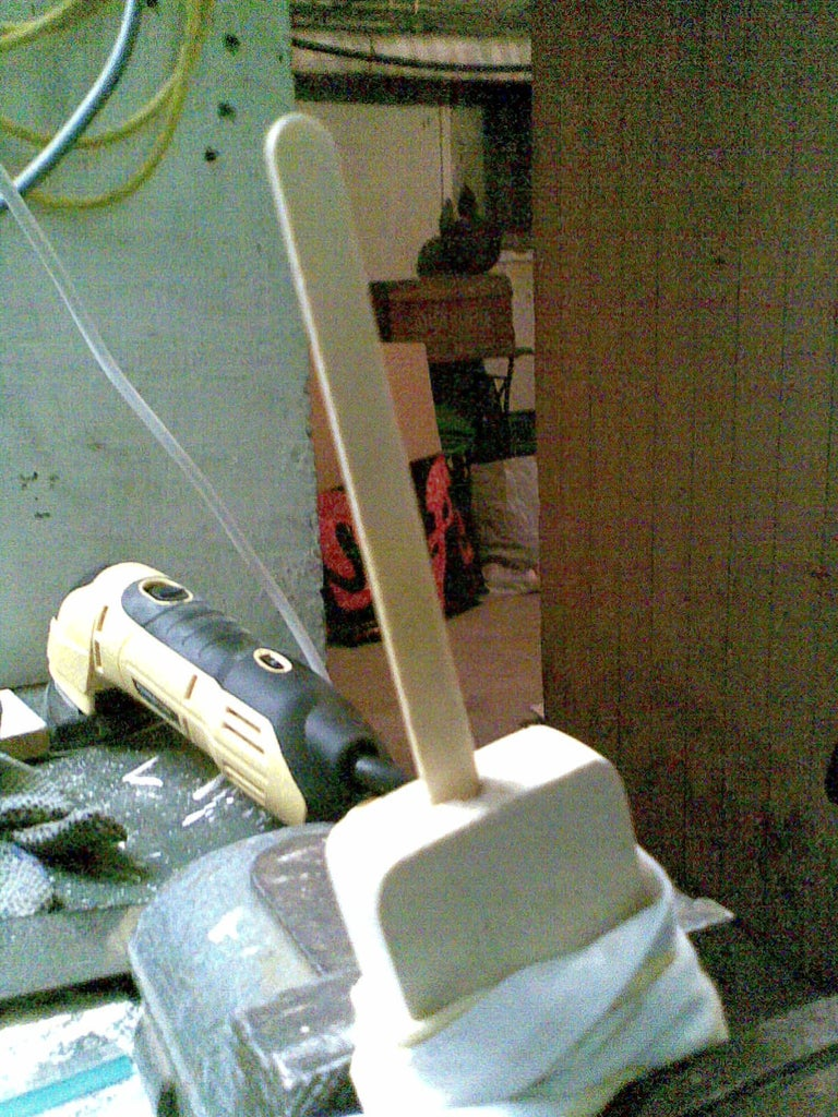 Making the Hole for the Popsicle Stick