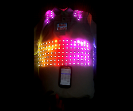 LED T-Shirt With LCD and Bluetooth