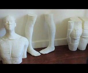 HOW MAKE BIG 3D PRINT - HUMAN BODY PRINTED
