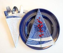 圣诞树餐巾