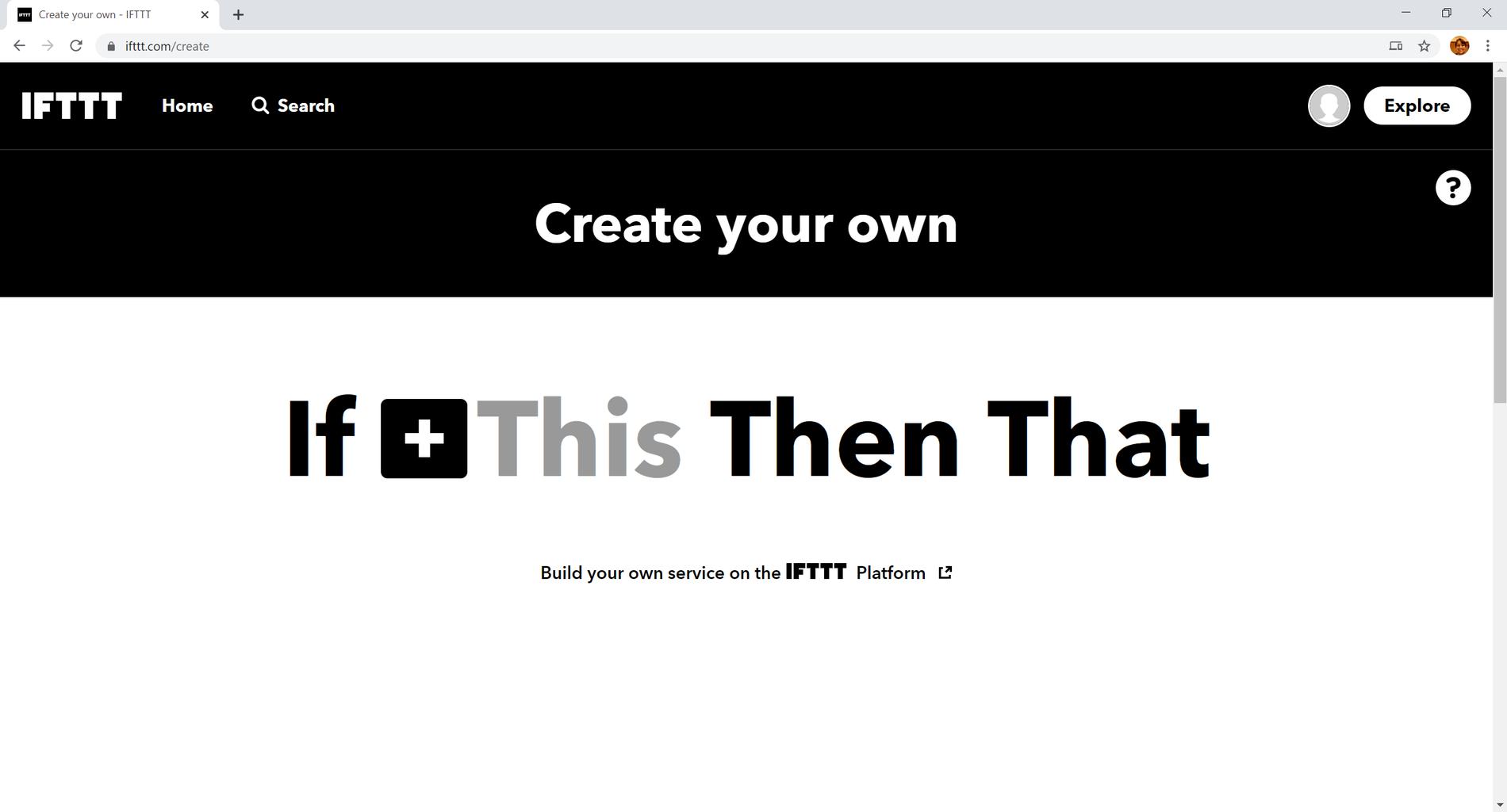IFTTT Configuration