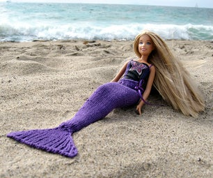 Knit Mermaid Tail for Dolls