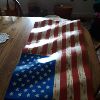 Wavey American Flag From 2x4s