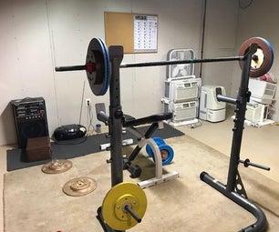 Brake Rotor Barbell and Dumbbell Set